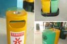 分类玻璃钢垃圾桶,大受深圳沙井实验学校用户欢迎
