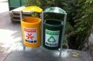 防止被偷,南京垃圾箱改用玻璃钢
