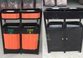 毕节公园更换钢木分类垃圾桶 营造游园好环境