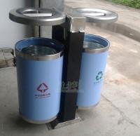 不锈钢户外分类垃圾桶