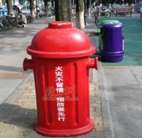 玻璃钢消防垃圾桶