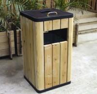景区钢木垃圾桶