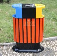 环保钢木垃圾桶