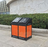 屋形钢木垃圾桶