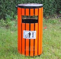 烤漆钢木垃圾桶