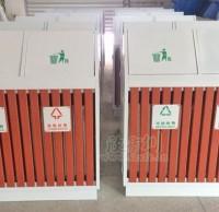 户外钢木分类垃圾桶坚固耐用 维护邵阳市容环境