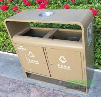 户外钢制分类垃圾桶