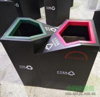 商场定制钢制分类垃圾桶