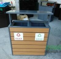 厂家定制钢木分类垃圾桶
