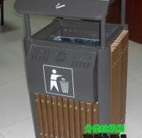 室内经典钢木垃圾桶
