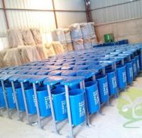 户外街道环保玻璃钢分类垃圾桶