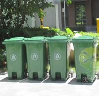 户外环保滚轮塑料分类垃圾桶