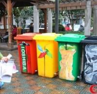 时尚分类垃圾桶 扔垃圾,也可以很时尚