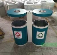 市政园林钢制分类垃圾桶