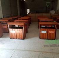 景区园林钢木垃圾桶 果皮箱批发