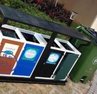 分类垃圾桶标识不清不明,垃圾何以分类?