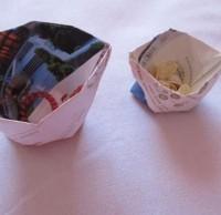 怎么折纸垃圾桶,手工折纸垃圾桶