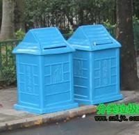 社区街道环卫玻璃钢分类垃圾桶