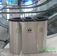 地铁不锈钢分类垃圾桶