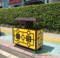 户外环卫古典钢制分类垃圾桶