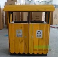 公园垃圾桶什么材质好?木制垃圾桶备受瞩目