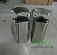 多边形不锈钢分类垃圾箱