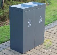 室内摇盖式不锈钢分类垃圾桶