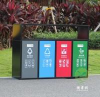 户外喷塑冷轧钢板分类垃圾箱