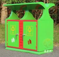 户外园林冷轧钢板分类垃圾箱
