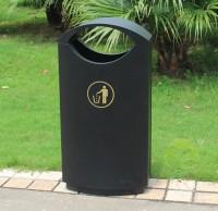 户外喷塑单桶冷轧钢板果皮箱