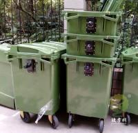 600L大型塑料分类垃圾桶车