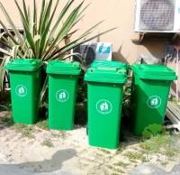 120L绿色厨余分类塑料垃圾桶