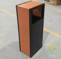 方形室内塑木冷轧钢板果皮箱