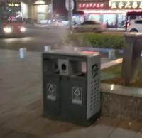 乱扔烟头进垃圾桶,险些造成火灾酿成大祸