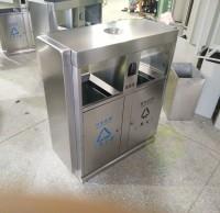 生产厂家定制两分类不锈钢垃圾桶