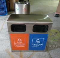 户外环保不锈钢分类垃圾桶