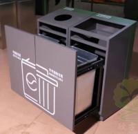 钢制室内分类垃圾桶厂家直销