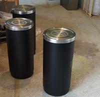 柱式烤漆室内不锈钢垃圾桶纸篓