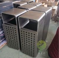 厂家批发钢板冲孔垃圾桶