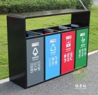 汕尾新增四色分类垃圾桶为创卫工作增光添彩