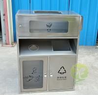 透明不锈钢分类垃圾桶