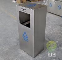 户外方形滑轨式不锈钢垃圾桶