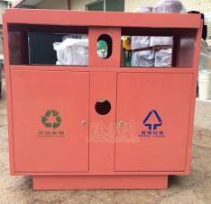 双分类不锈钢垃圾桶