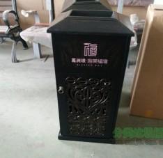 烤漆镂空工艺室内方形不锈钢垃圾桶