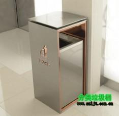 室内方形不锈钢禁烟标志垃圾桶