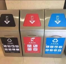 屋形组合式不锈钢分类垃圾桶