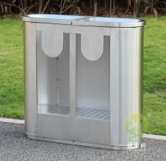 室内地铁站分类不锈钢垃圾桶