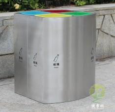 室内立式直投口四分类垃圾桶