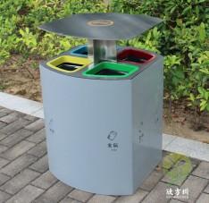 喷塑户外四分类不锈钢垃圾桶