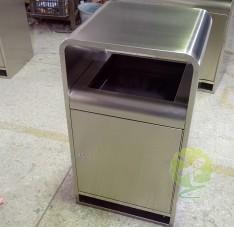 室内方形不锈钢垃圾桶